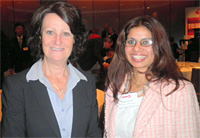 RMIT student Anjali Chhetri with the Minister for Tourism, Louise Asher
