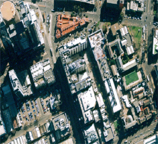 Aerial view of the City campus as viewed in Property Central