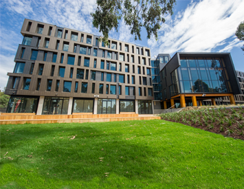 Outside view of on-campus accommodation at Bundoora.