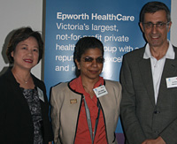 <em></em>Professor Caroline Chan, Professor Nilmini Wickramasinghe and Dr Peter Dohrmann<em>.</em>
