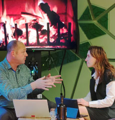 Photo of a fireside chat at the 2015 Expo