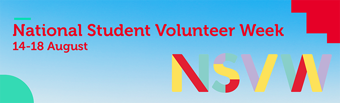 National student volunteers week banner