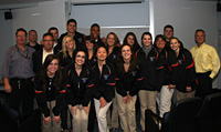 <em></em>Students from Kirkwood Community College, USA, visit the RMIT Business TAFE School.