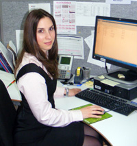 <em></em>Accounting student Mary Zangari is undertaking her Cooperative Education placement with RMIT Financial Services.