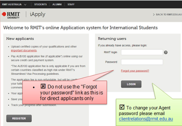 iApply - forgot password