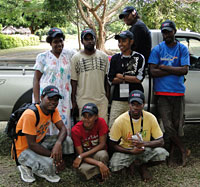 <em></em>A team of household surveyors and focus group facilitators in Vanuatu<em>.</em>