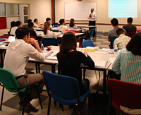 <em></em>Students experience the new MBA Executive program at the Saigon South campus.