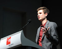James Sanders, RMIT Entrepreneurship graduate and co-founder of entrepreneur network, The Hive.