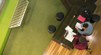 There are lots of study spaces in Building 80