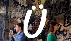 Yume logo with people eating in the background