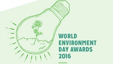 UNAA World Environment Day illustration of a light bulb