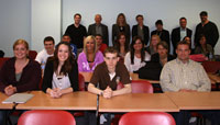 Students from Kirkwood Community College, USA are welcomed by the Business TAFE School.
