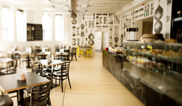 The Pearson and Murphys caf is a stylish eatery that is open to the University community and general public.