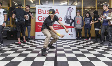Dancer at Bust a Groove Competition