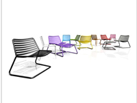 "Ross Didier's Bombala chairs are inspired by Mies van der Rohe's iconic 1929 ""Barcelona"" chair"