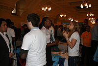<em></em>Students network with potential employers at the School of Accounting Cooperative Education Fair.
