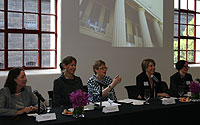 Gail Owen, Michelle Brisbane, Professor Margaret Jackson, Kate O'Reilly and Dr Claire Noone.
