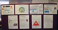 The Learning and Teaching Wall of Excellence in the School of Management.