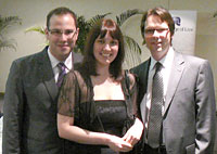 Stephen Carlton, Kristin Williamson and Misha Ketchell enjoy the formal dinner after a hard competition.