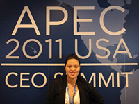 <em></em>Stephanie Moncur attended the 2011 APEC Summit in Hawaii.
