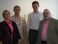 <em></em>Dr Heather Douglas, RMIT, Dr Alex Nicholls, Oxford University, Dr Chris Mason, Swinburne University, and Professor Brian Corbitt, RMIT.