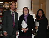 Associate Professor David Gilbert, Pat Thurgood and Dr Afreen Huq.